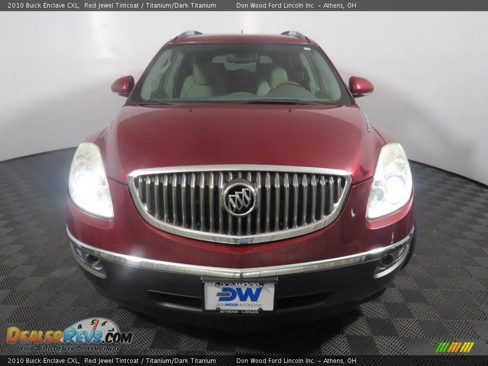 2010 Buick Enclave CXL Red Jewel Tintcoat / Titanium/Dark Titanium Photo #6