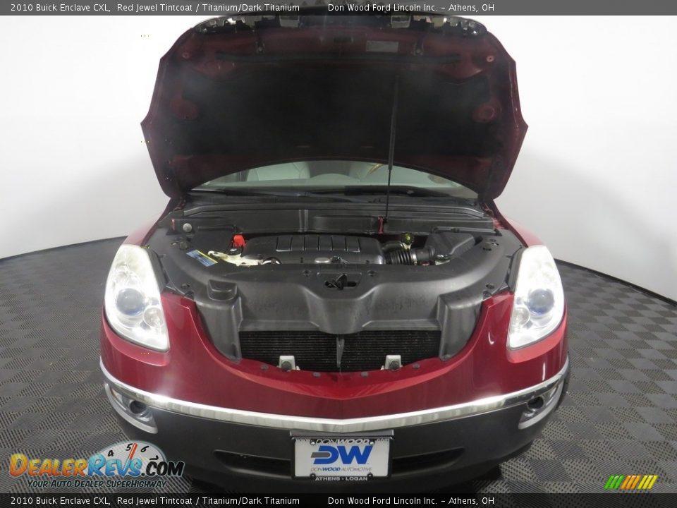 2010 Buick Enclave CXL Red Jewel Tintcoat / Titanium/Dark Titanium Photo #7