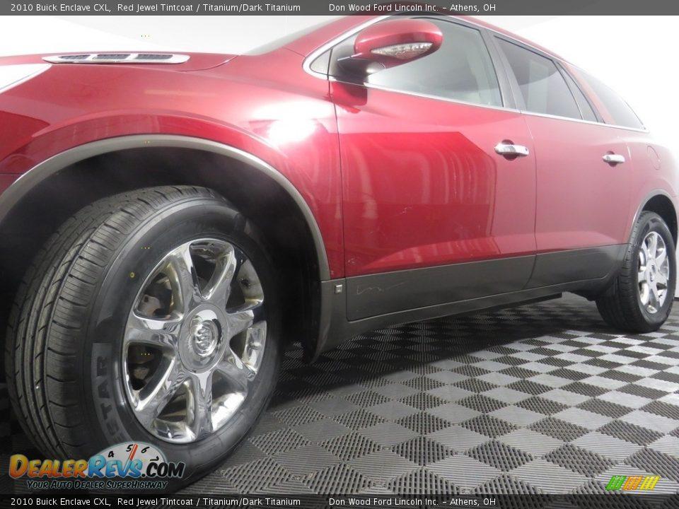 2010 Buick Enclave CXL Red Jewel Tintcoat / Titanium/Dark Titanium Photo #10