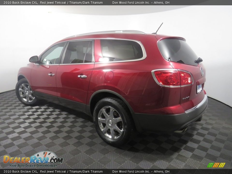 2010 Buick Enclave CXL Red Jewel Tintcoat / Titanium/Dark Titanium Photo #11