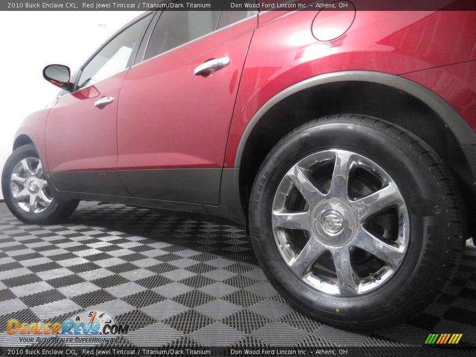 2010 Buick Enclave CXL Red Jewel Tintcoat / Titanium/Dark Titanium Photo #12