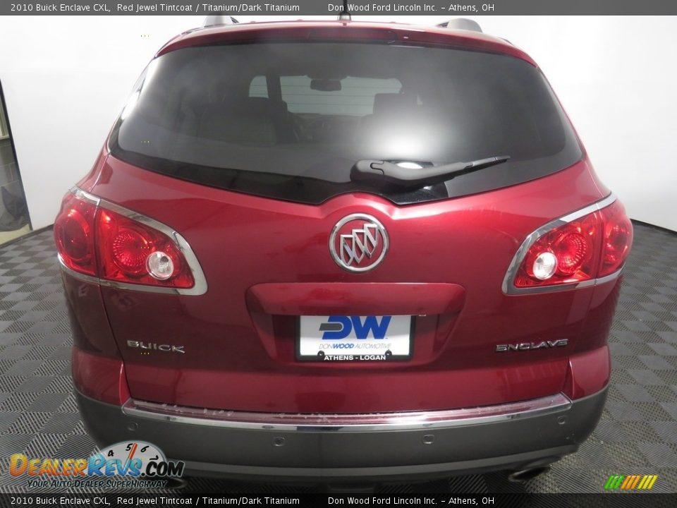2010 Buick Enclave CXL Red Jewel Tintcoat / Titanium/Dark Titanium Photo #13