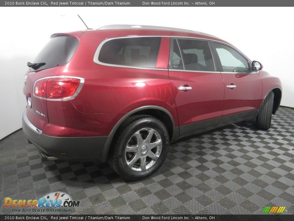 2010 Buick Enclave CXL Red Jewel Tintcoat / Titanium/Dark Titanium Photo #18