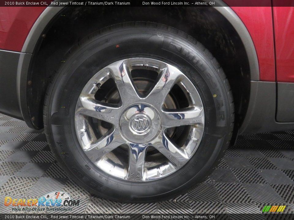 2010 Buick Enclave CXL Red Jewel Tintcoat / Titanium/Dark Titanium Photo #20
