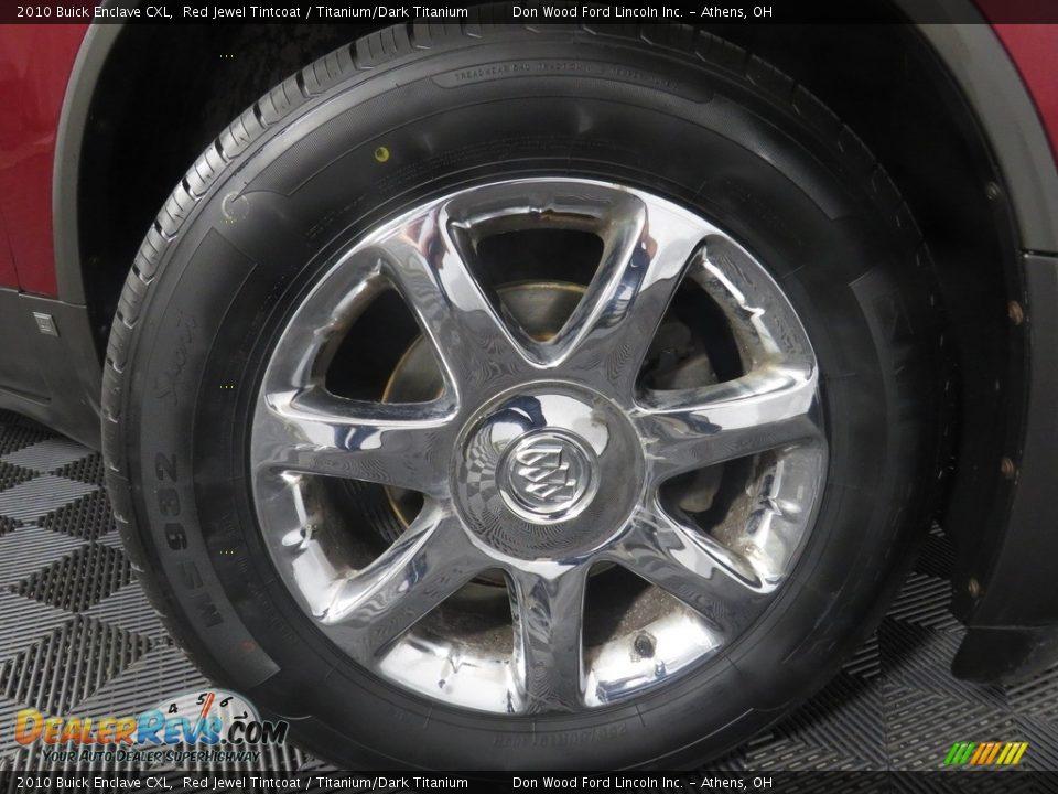 2010 Buick Enclave CXL Red Jewel Tintcoat / Titanium/Dark Titanium Photo #21