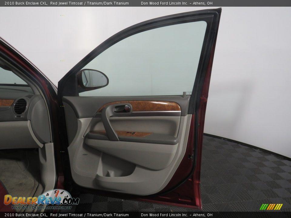2010 Buick Enclave CXL Red Jewel Tintcoat / Titanium/Dark Titanium Photo #35