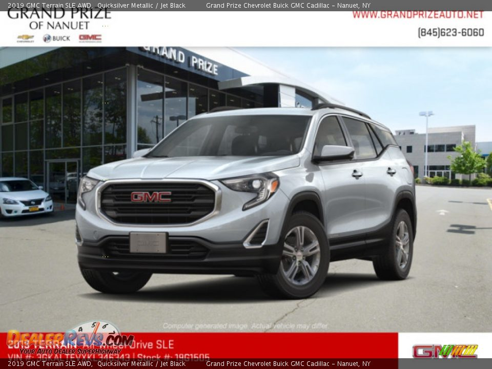 2019 GMC Terrain SLE AWD Quicksilver Metallic / Jet Black Photo #1