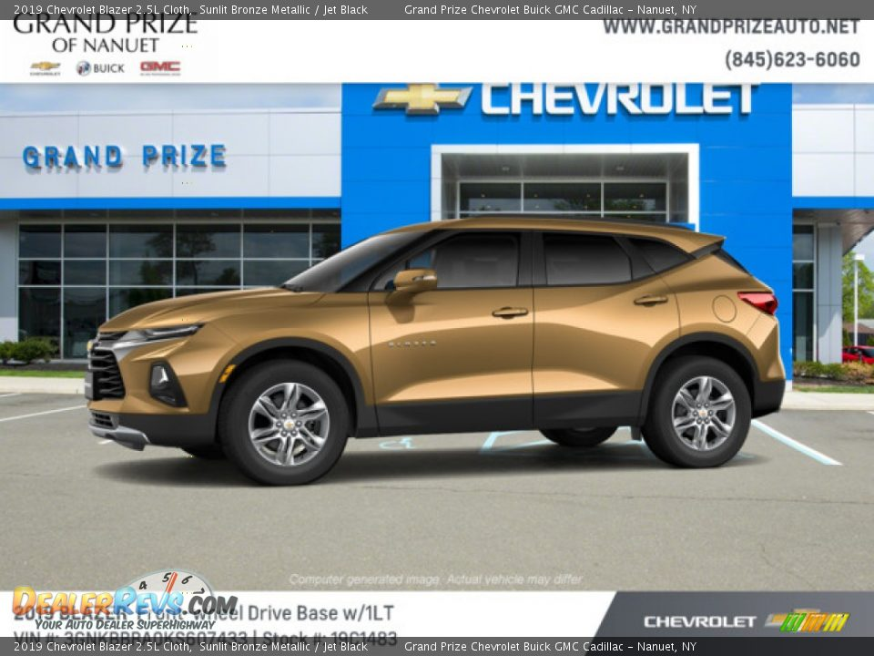 2019 Chevrolet Blazer 2.5L Cloth Sunlit Bronze Metallic / Jet Black Photo #3