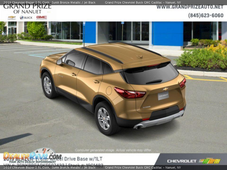 2019 Chevrolet Blazer 2.5L Cloth Sunlit Bronze Metallic / Jet Black Photo #4