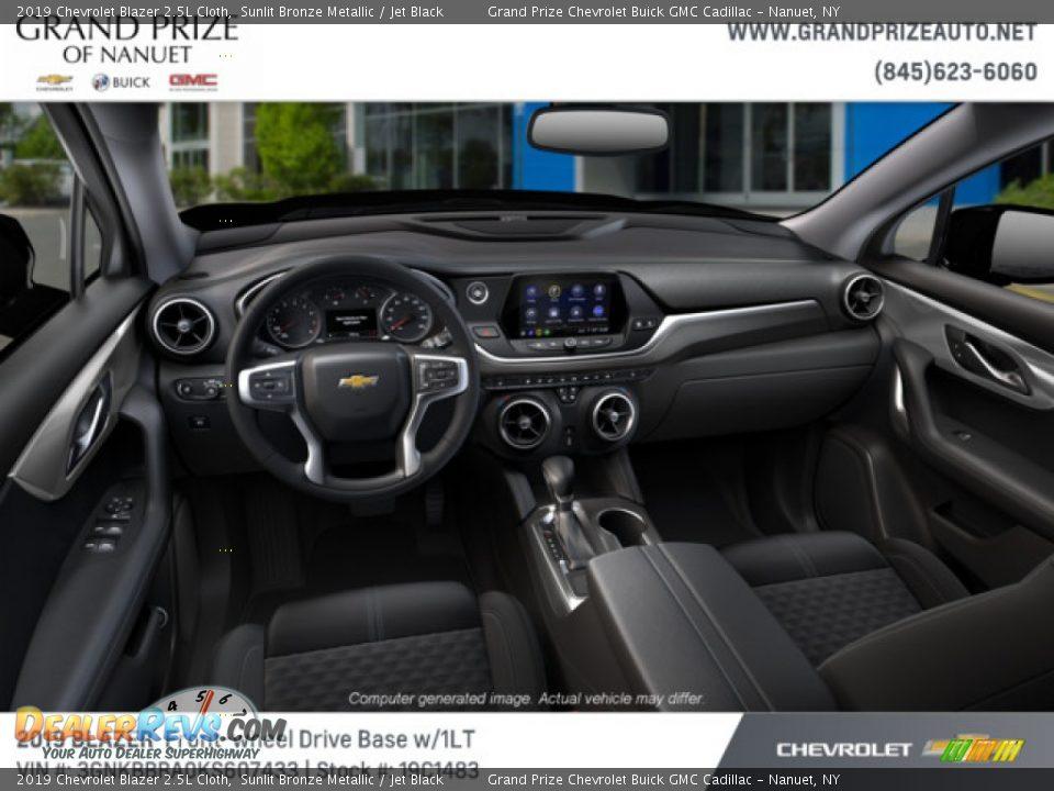2019 Chevrolet Blazer 2.5L Cloth Sunlit Bronze Metallic / Jet Black Photo #7