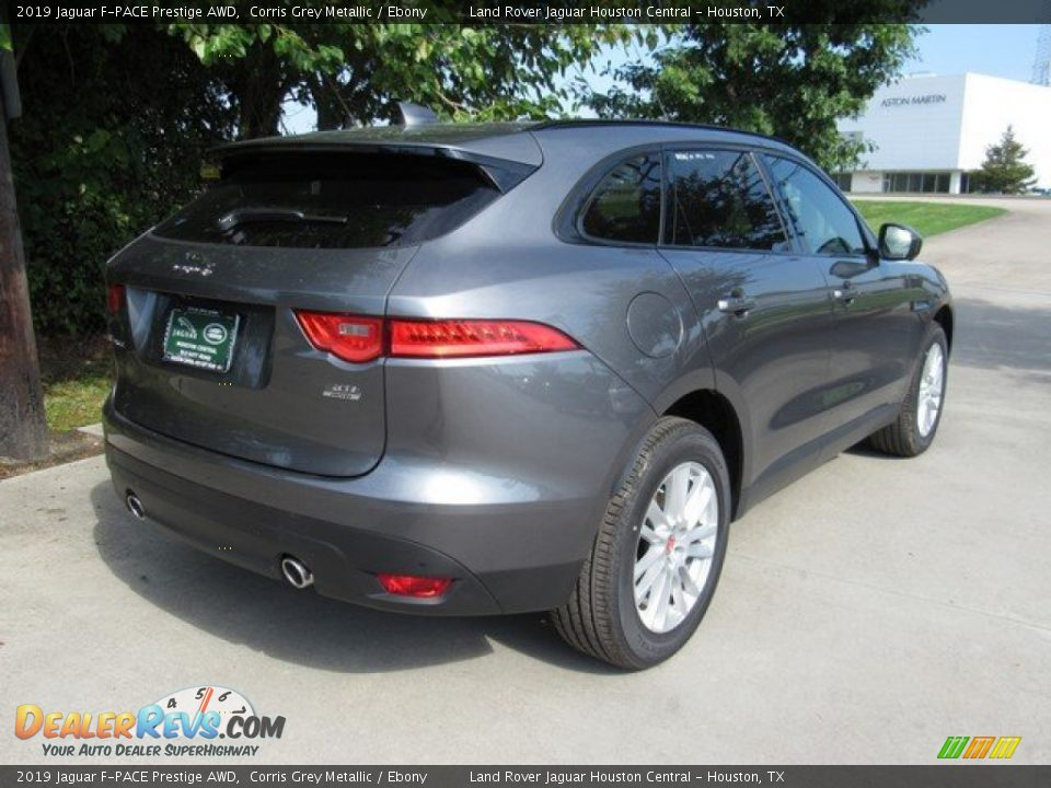 2019 Jaguar F-PACE Prestige AWD Corris Grey Metallic / Ebony Photo #7