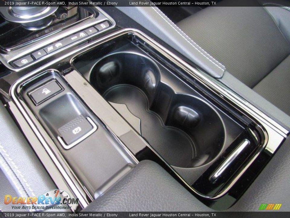 2019 Jaguar F-PACE R-Sport AWD Indus Silver Metallic / Ebony Photo #36