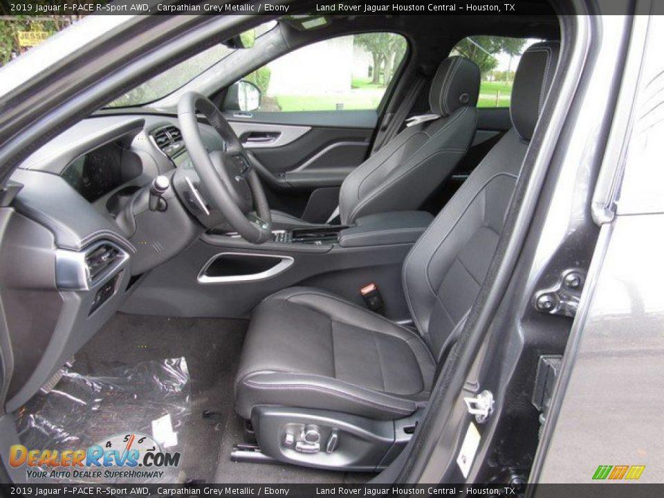 Ebony Interior - 2019 Jaguar F-PACE R-Sport AWD Photo #3