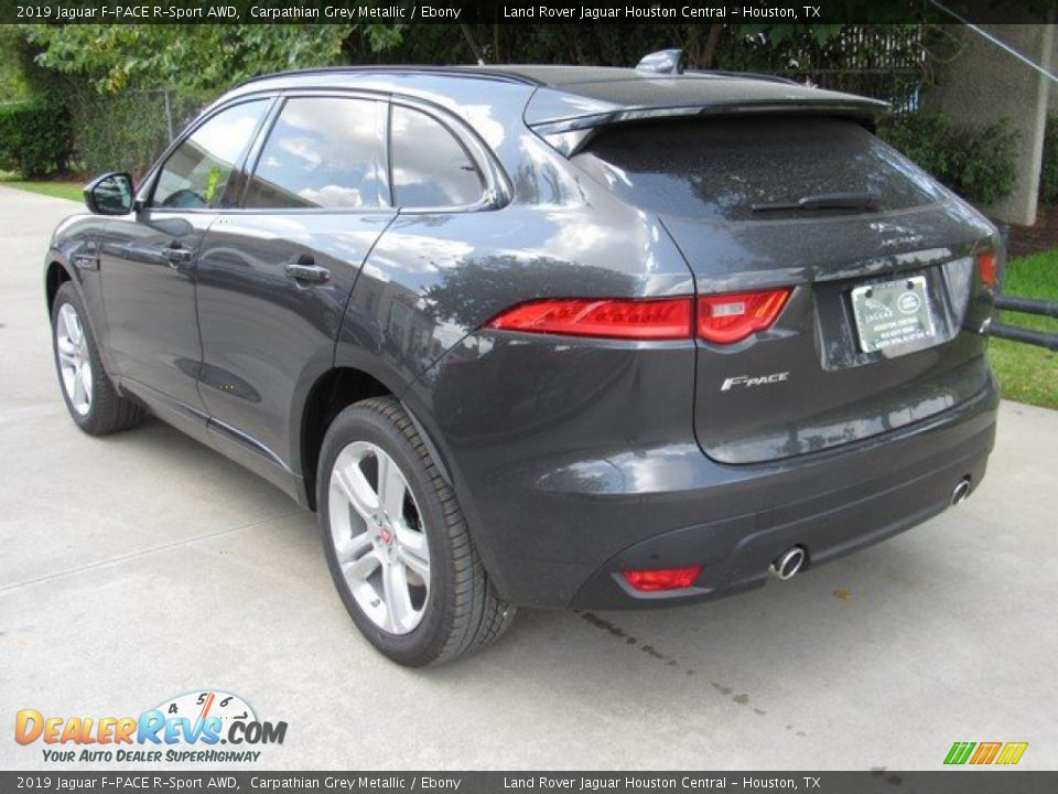 2019 Jaguar F-PACE R-Sport AWD Carpathian Grey Metallic / Ebony Photo #12