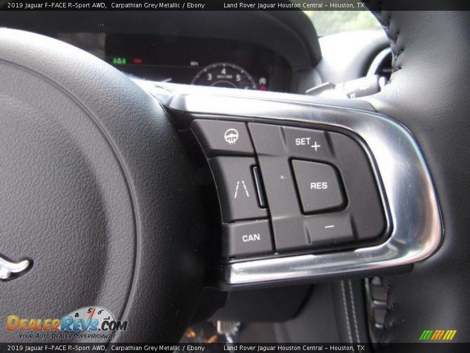 2019 Jaguar F-PACE R-Sport AWD Steering Wheel Photo #29