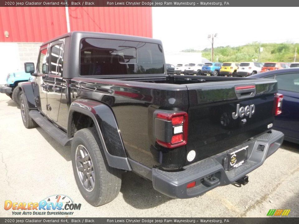 2020 Jeep Gladiator Overland 4x4 Black / Black Photo #3