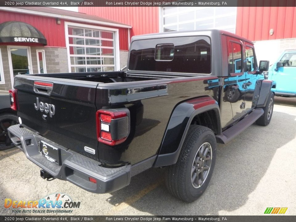 2020 Jeep Gladiator Overland 4x4 Black / Black Photo #5