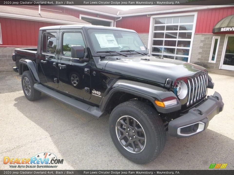 Black 2020 Jeep Gladiator Overland 4x4 Photo #6