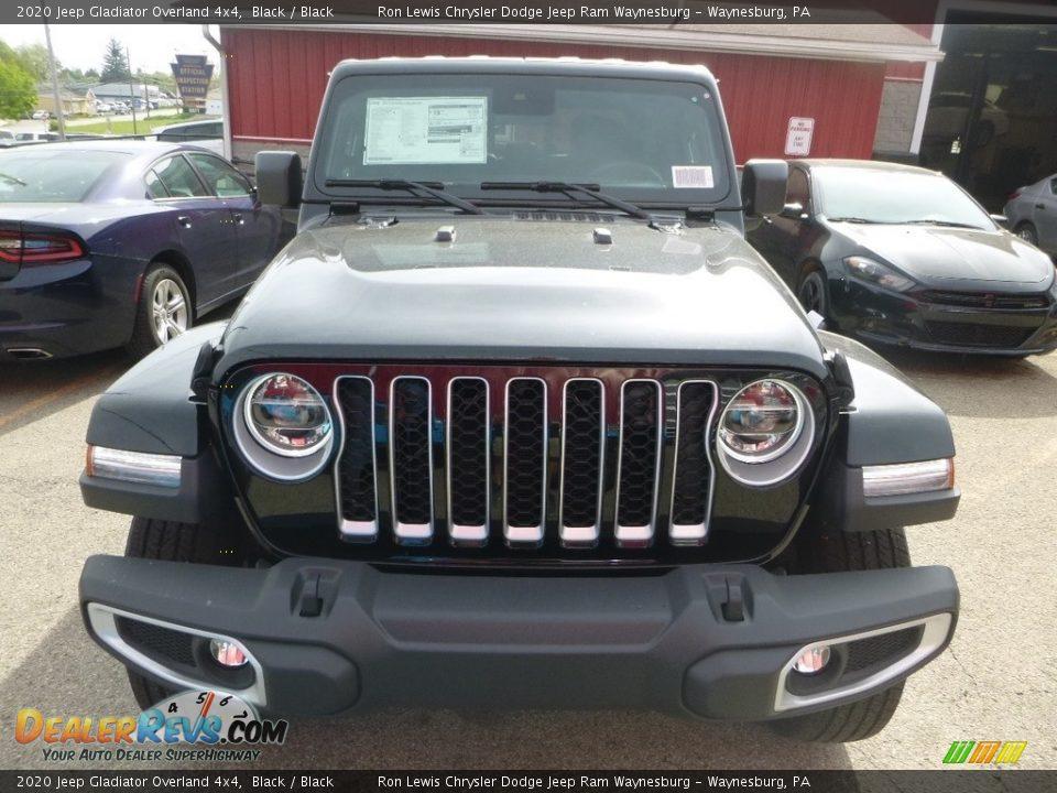 2020 Jeep Gladiator Overland 4x4 Black / Black Photo #7