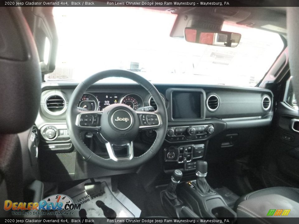 Black Interior - 2020 Jeep Gladiator Overland 4x4 Photo #12