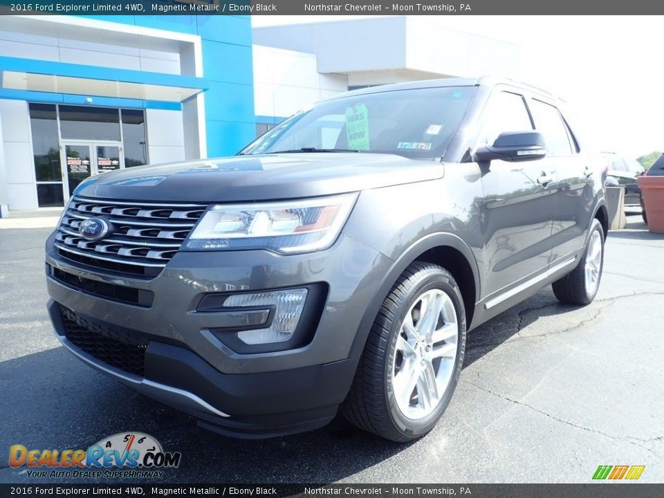 2016 Ford Explorer Limited 4WD Magnetic Metallic / Ebony Black Photo #2