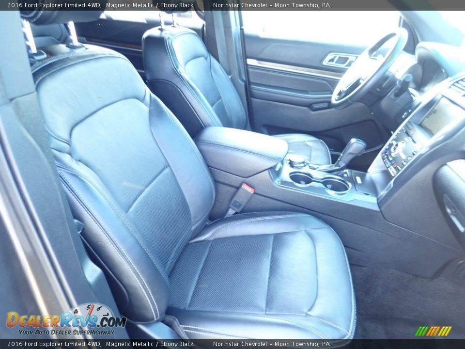2016 Ford Explorer Limited 4WD Magnetic Metallic / Ebony Black Photo #15