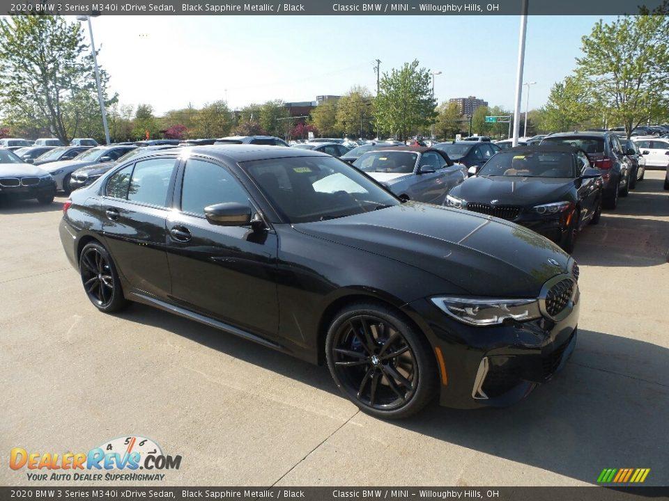 2020 BMW 3 Series 340i xDrive Sedan Black Sapphire Metallic / Black Photo #1