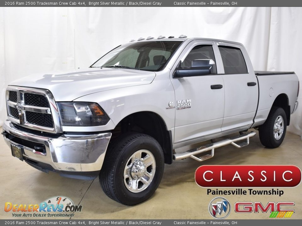 2016 Ram 2500 Tradesman Crew Cab 4x4 Bright Silver Metallic / Black/Diesel Gray Photo #1
