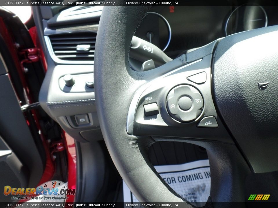 2019 Buick LaCrosse Essence AWD Red Quartz Tintcoat / Ebony Photo #18
