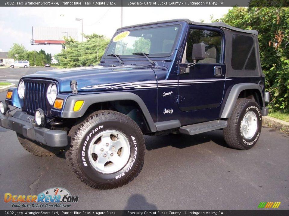 2002 jeep wrangler sport 4x4 patriot blue pearl agate. Black Bedroom Furniture Sets. Home Design Ideas