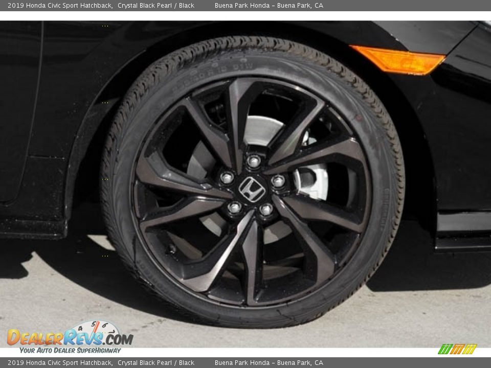 2019 Honda Civic Sport Hatchback Crystal Black Pearl / Black Photo #5