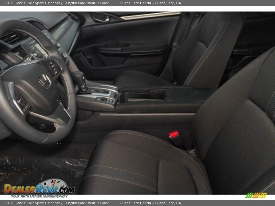 2019 Honda Civic Sport Hatchback Crystal Black Pearl / Black Photo #7
