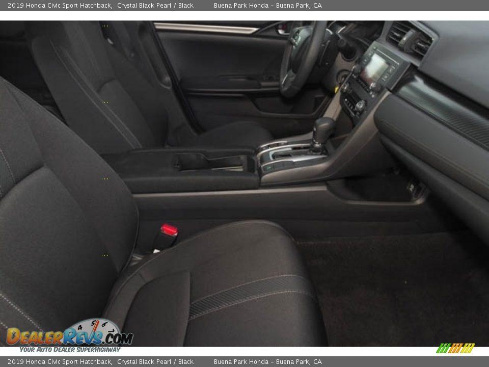 2019 Honda Civic Sport Hatchback Crystal Black Pearl / Black Photo #19