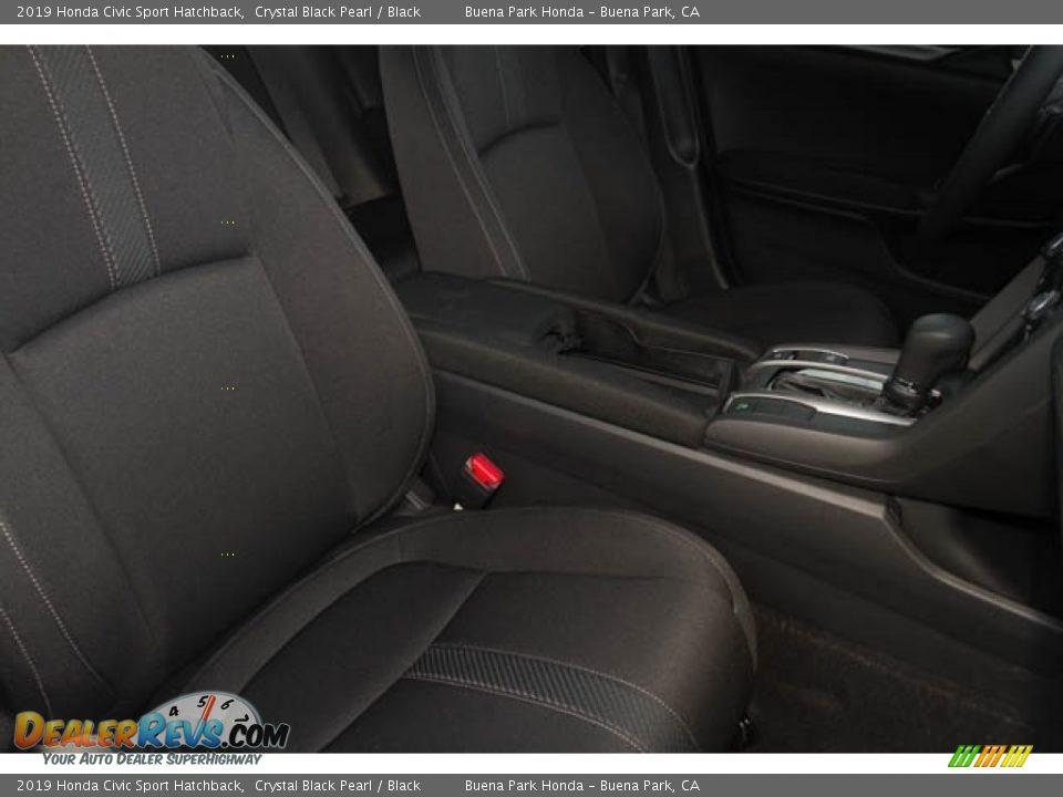 2019 Honda Civic Sport Hatchback Crystal Black Pearl / Black Photo #20