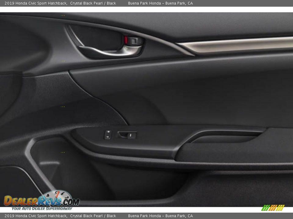 2019 Honda Civic Sport Hatchback Crystal Black Pearl / Black Photo #27