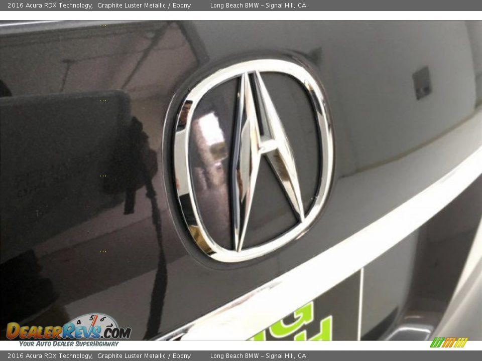 2016 Acura RDX Technology Graphite Luster Metallic / Ebony Photo #23