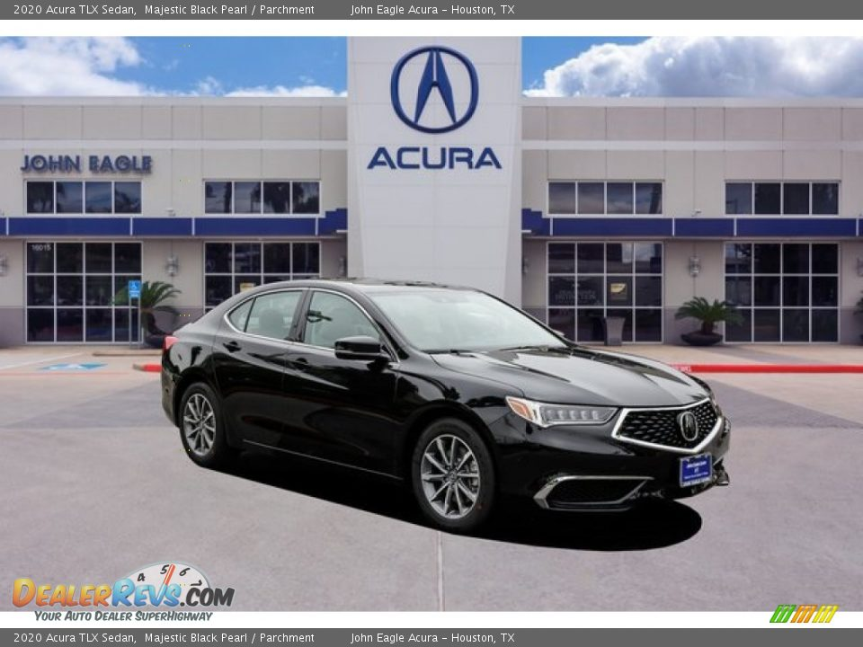 2020 Acura TLX Sedan Majestic Black Pearl / Parchment Photo #1