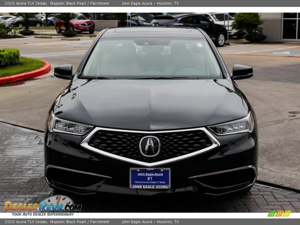 2020 Acura TLX Sedan Majestic Black Pearl / Parchment Photo #2
