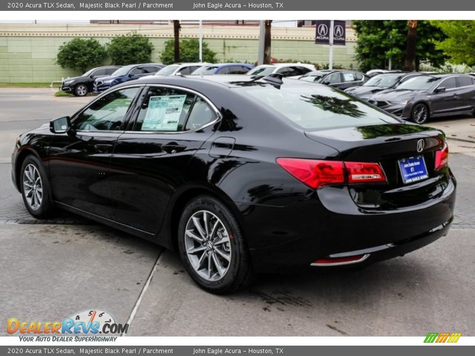 2020 Acura TLX Sedan Majestic Black Pearl / Parchment Photo #5