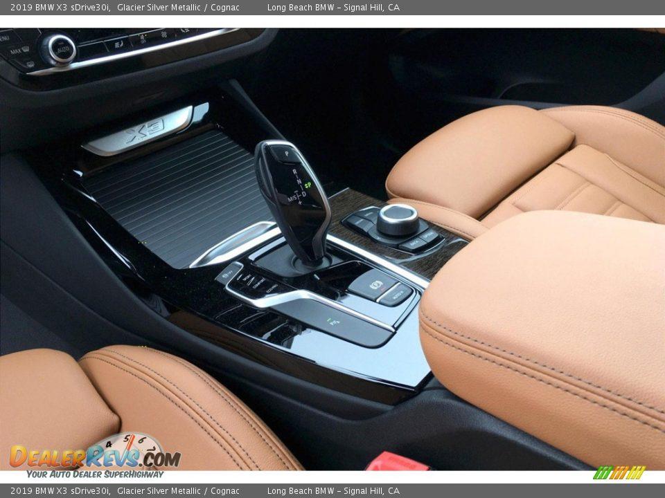 2019 BMW X3 sDrive30i Glacier Silver Metallic / Cognac Photo #7