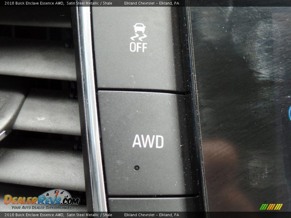 2018 Buick Enclave Essence AWD Satin Steel Metallic / Shale Photo #34