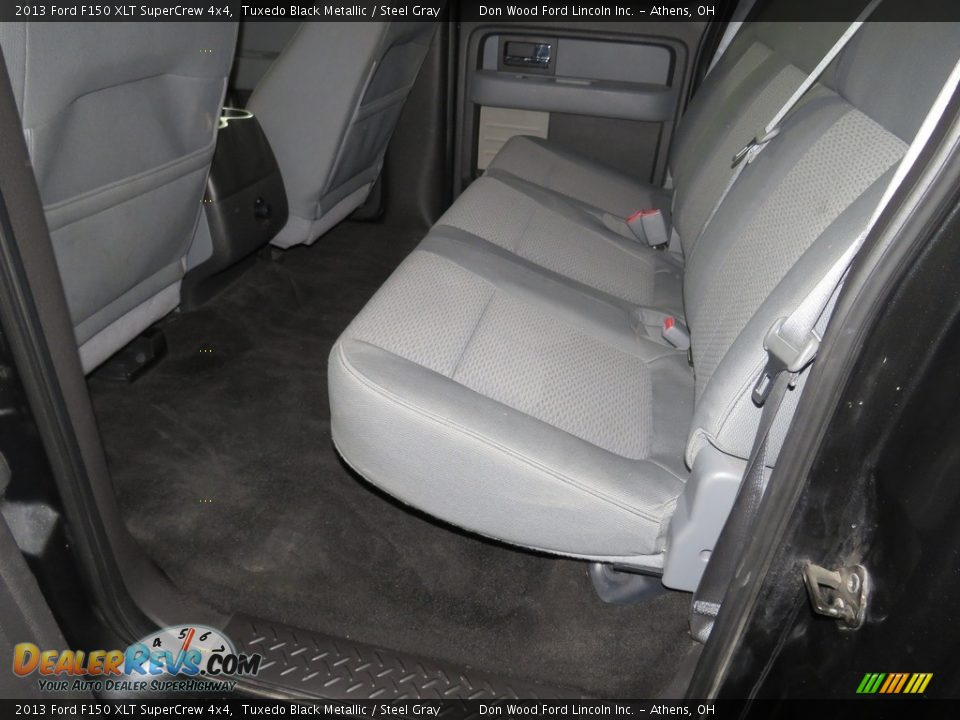 2013 Ford F150 XLT SuperCrew 4x4 Tuxedo Black Metallic / Steel Gray Photo #24