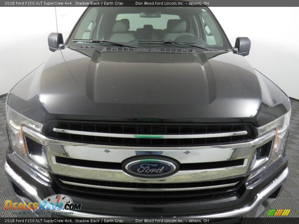 2018 Ford F150 XLT SuperCrew 4x4 Shadow Black / Earth Gray Photo #4