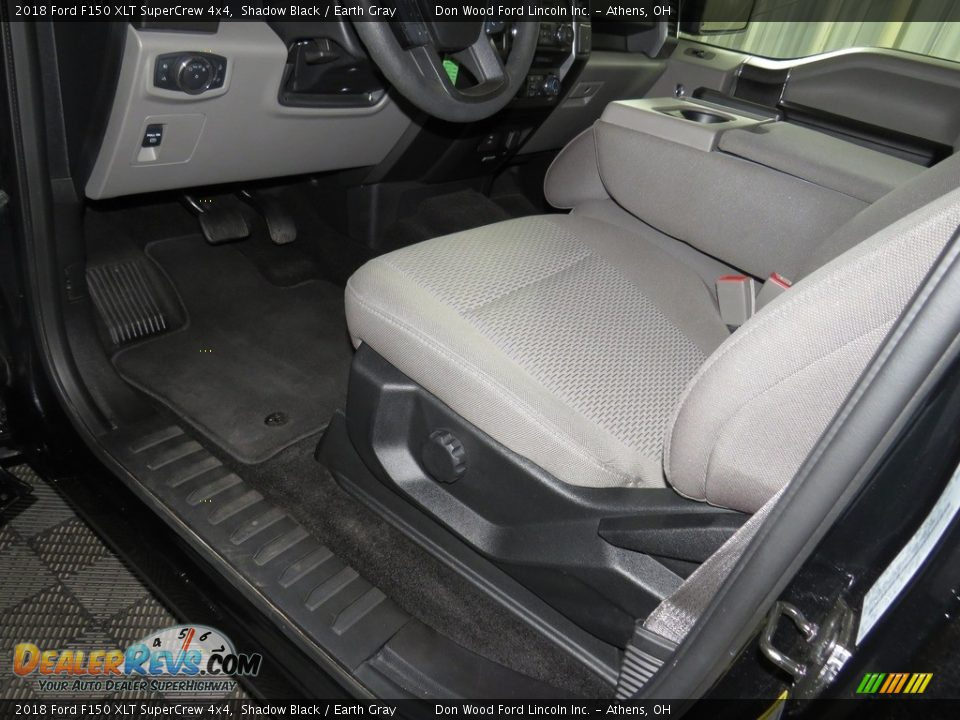 2018 Ford F150 XLT SuperCrew 4x4 Shadow Black / Earth Gray Photo #20