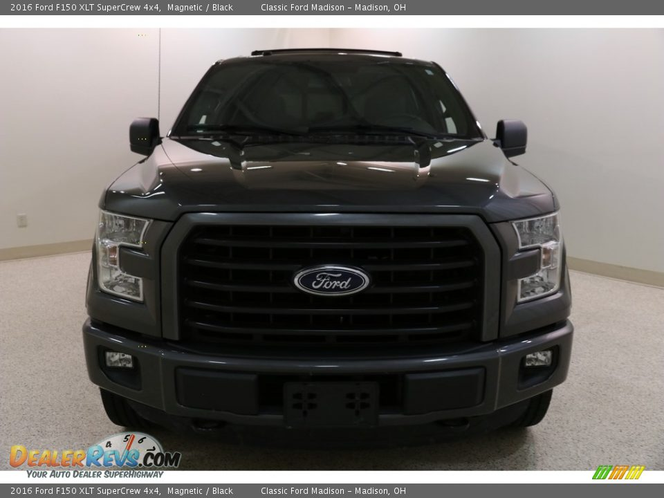 2016 Ford F150 XLT SuperCrew 4x4 Magnetic / Black Photo #2