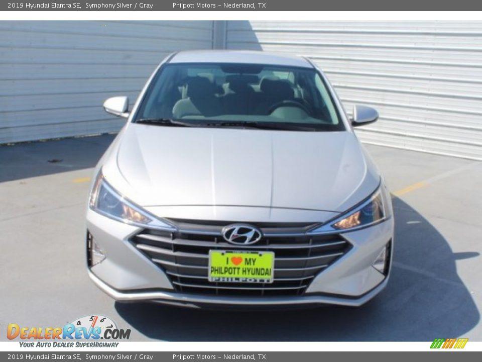 2019 Hyundai Elantra SE Symphony Silver / Gray Photo #3