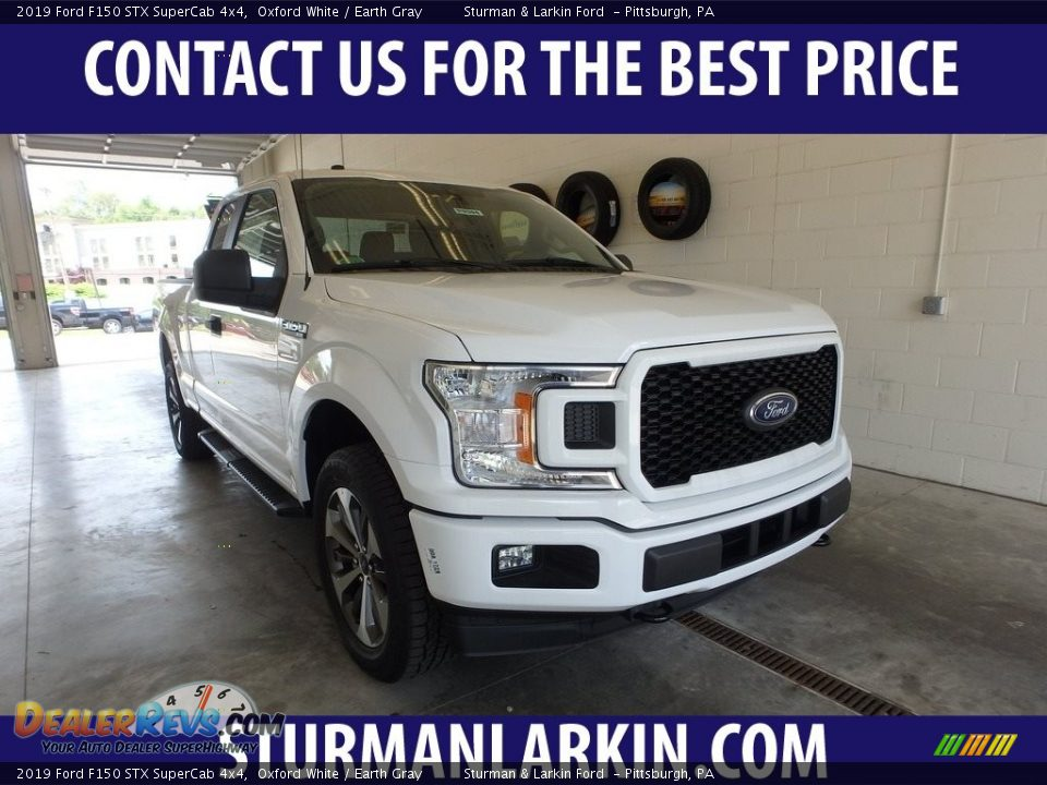2019 Ford F150 STX SuperCab 4x4 Oxford White / Earth Gray Photo #1