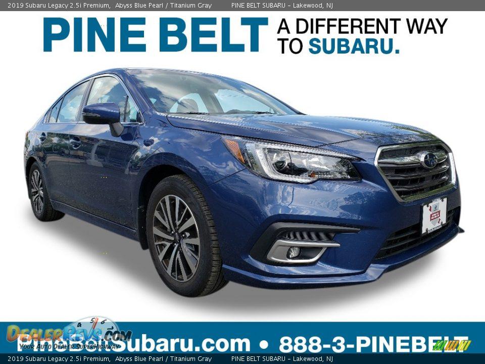 2019 Subaru Legacy 2.5i Premium Abyss Blue Pearl / Titanium Gray Photo #1