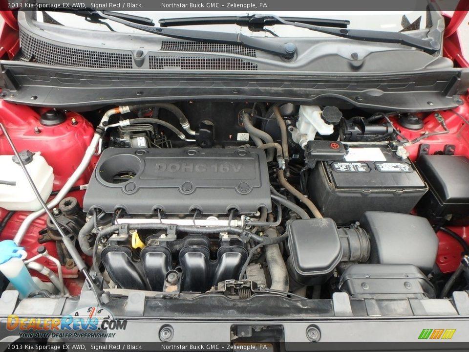 2013 Kia Sportage EX AWD Signal Red / Black Photo #2