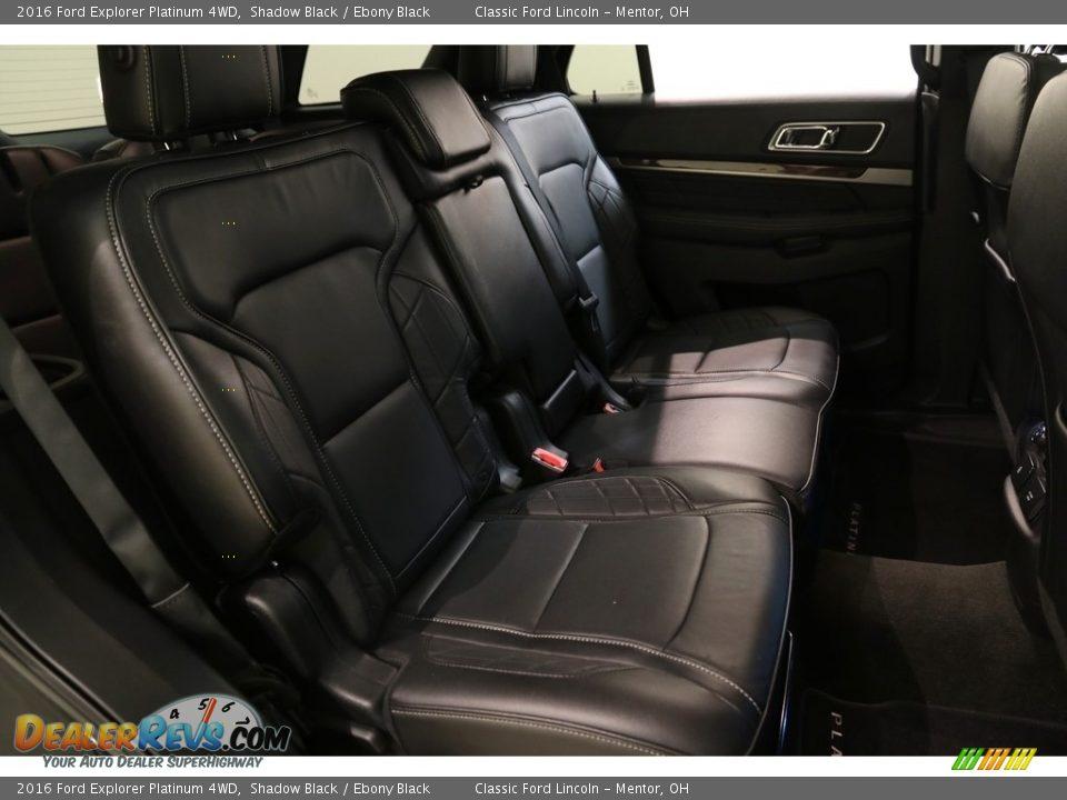 2016 Ford Explorer Platinum 4WD Shadow Black / Ebony Black Photo #18